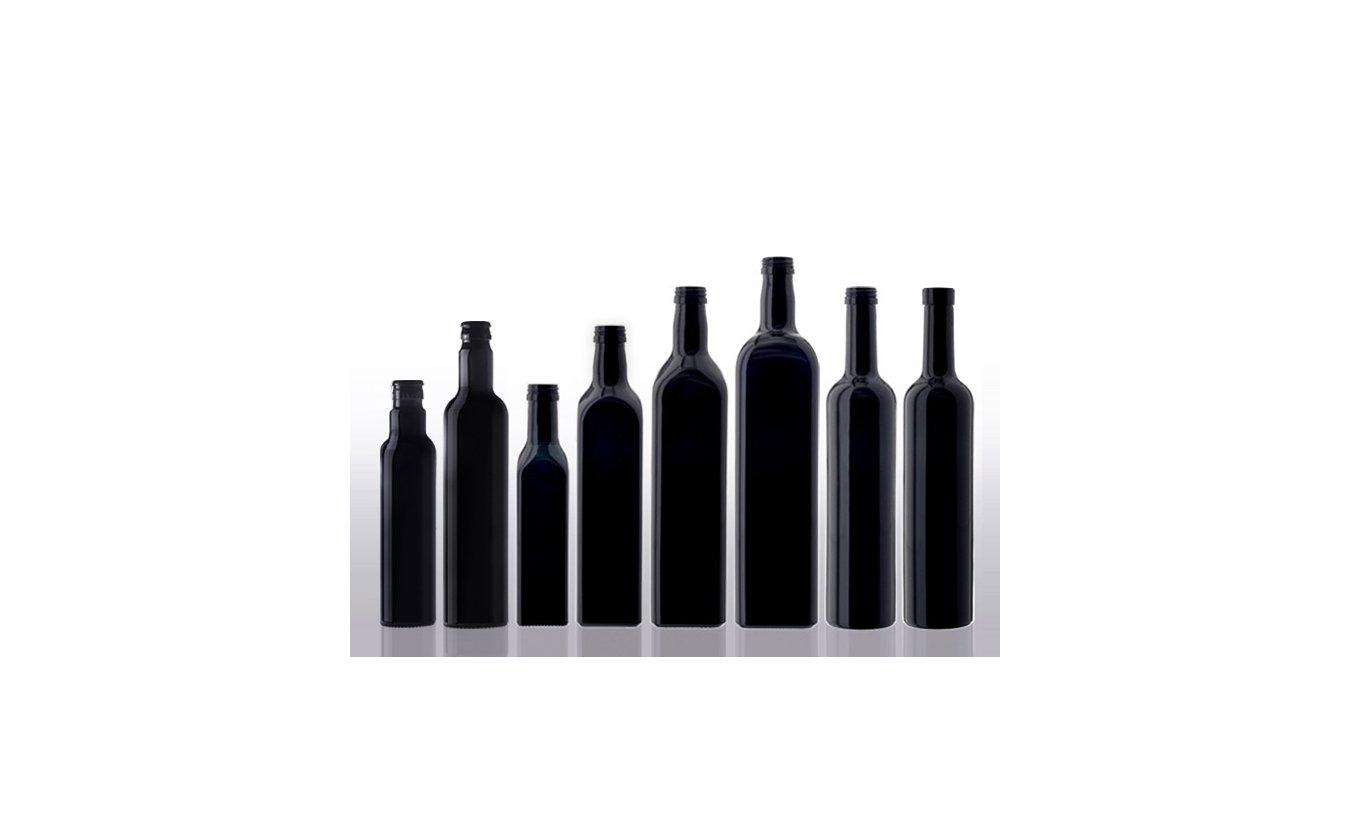 Miron violet glass Ölflaschen, eckig