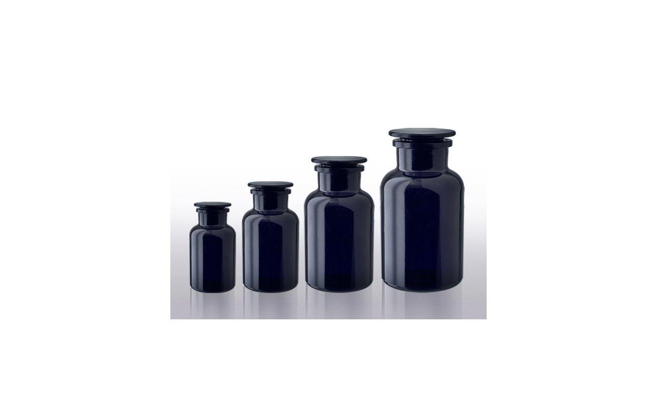 Miron violett glass Apothekerflaschen