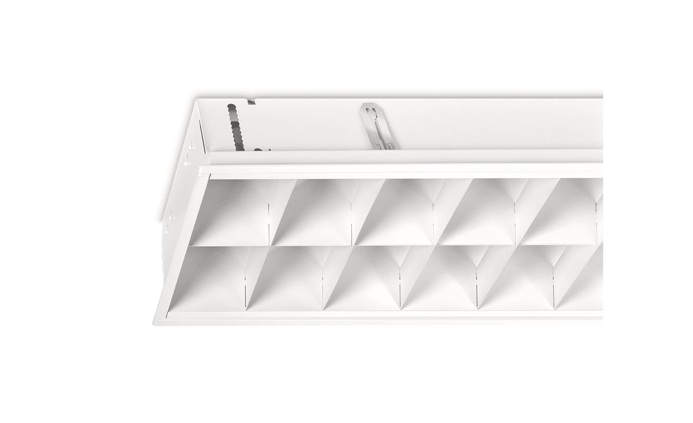 Mountainlight Inlay-Leuchte 2x36 Weiße-Gitter, matt