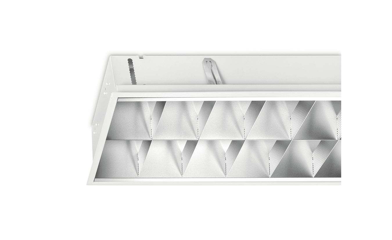 Mountainlight Inlay-Leuchte 2x36 Aluminium-Gitter, matt