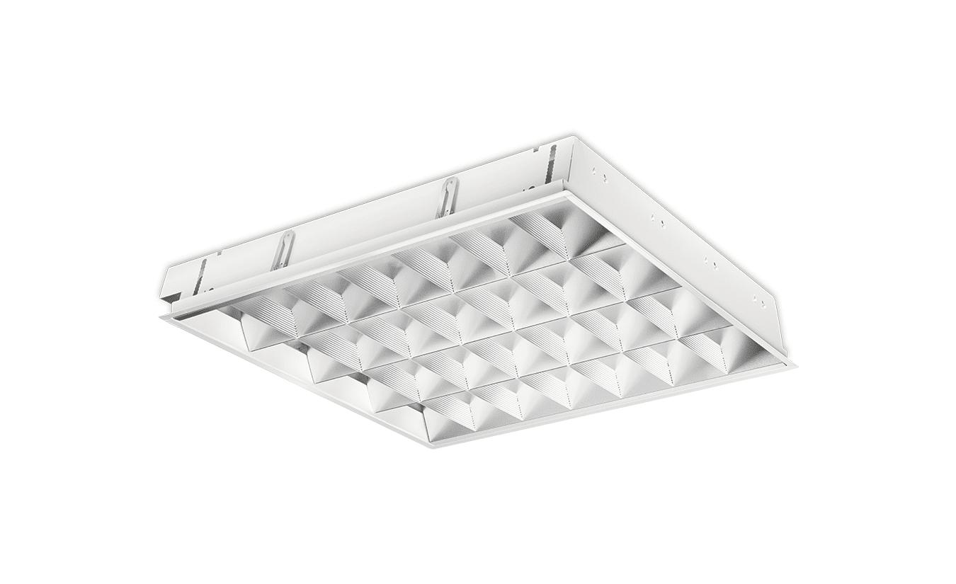 Mountainlight Inlay-Leuchte 4x 18 Watt, Aluminium-Gitter, matt