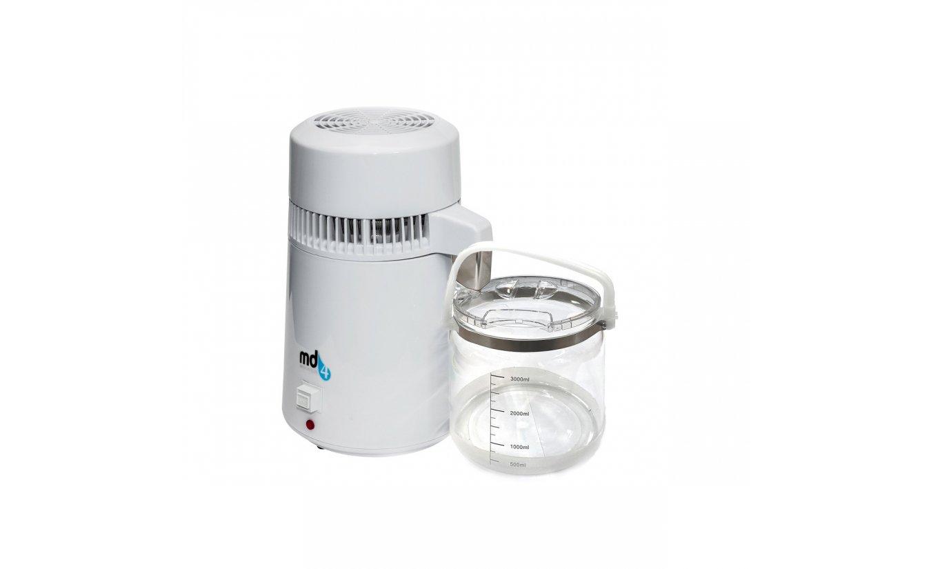 Tragbares Wasser Destillierger MD4 mit RVS filter