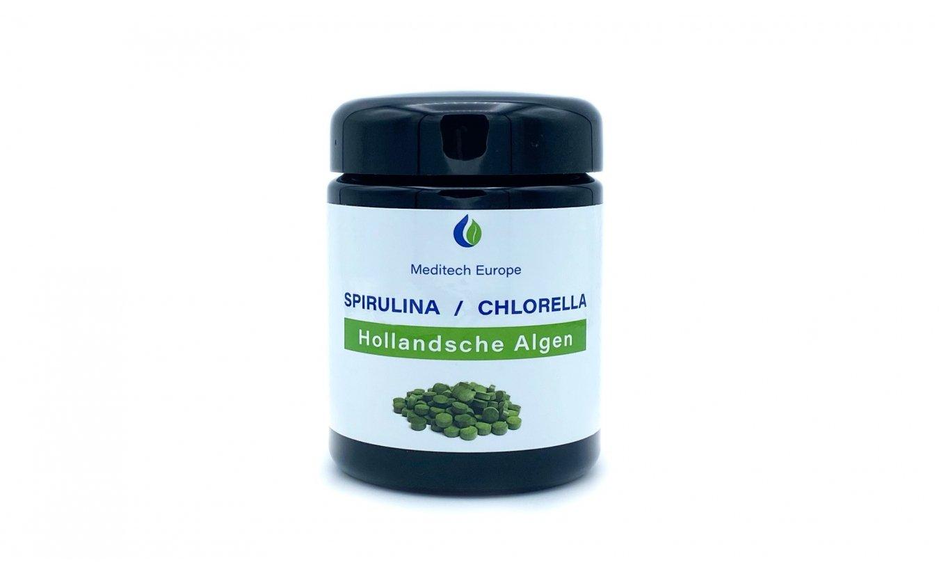 Spirulina Chlorella-Algen Tabletten