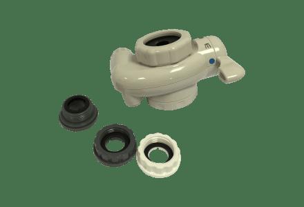 Verbindungshahn mit Stecker- und Buchsen-Verbindungsstücken für Akai Ionizer Plus®